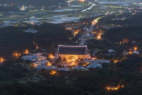 독립기념관의 새벽 전경