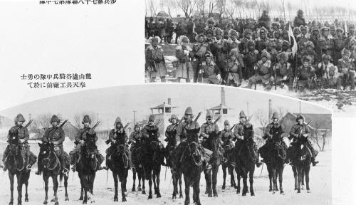 만주를 침략하는 일본군