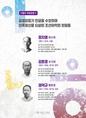 장지영, 김윤경, 권덕규 선생